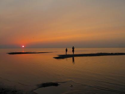 Lake Manitoba sunset.