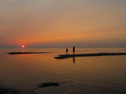 Lake Manitoba sunset.