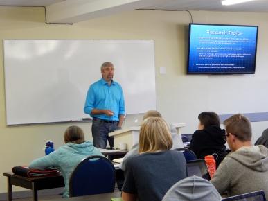 Teaching at Millar College.